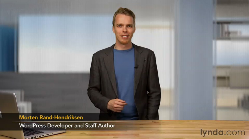 Screen grab of Morten Rand-Hendriksen in the lynda.com course Blogging for Your Business