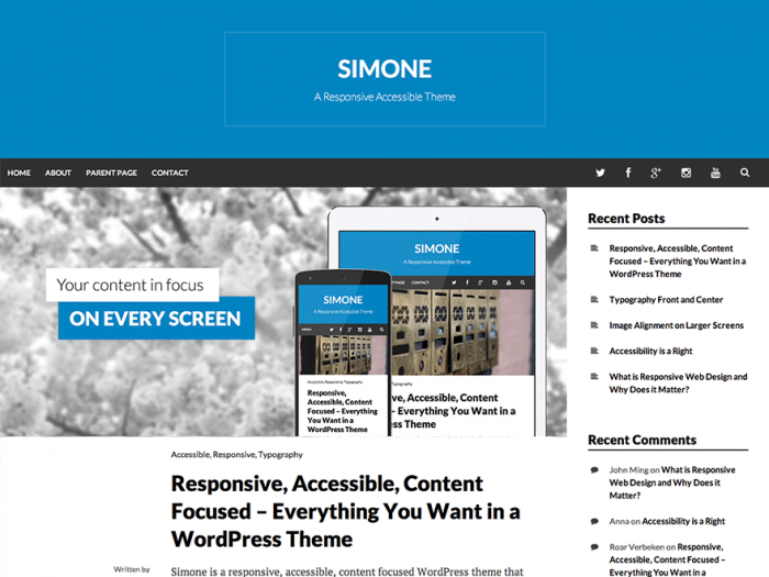 Simone - a free, responsive, accessible WordPress theme from Morten Rand-Hendriksen