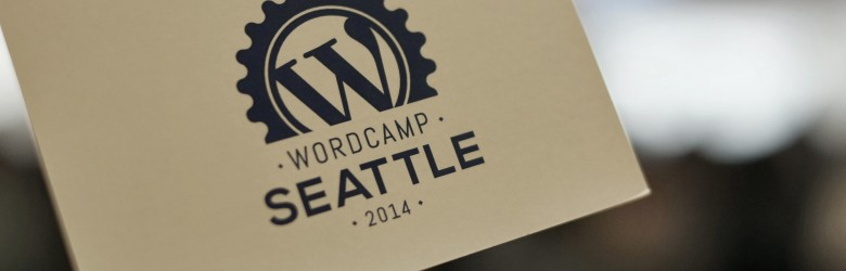 Name tag for WordCamp Seattle 2014