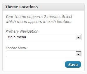 New WordPress 3 menu