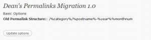 Dean's Permalinks Migration plugin