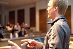 Morten Rand-Hendriksen speaking at Northern Voice 2011