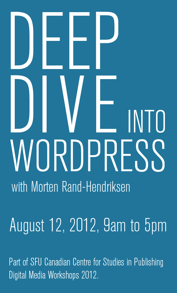 Go to Deep Dive into WordPress