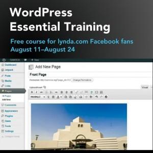 WordPress Essential Training for free