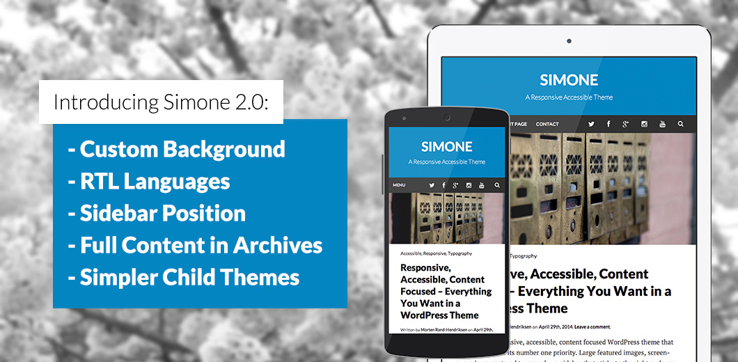 Go to Simone 2.0: Custom backgrounds, sidebar position, RTL support, and more