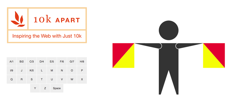 Go to Semaphore: A 10k Apart entry powered by SVG, CSS, and JavaScript