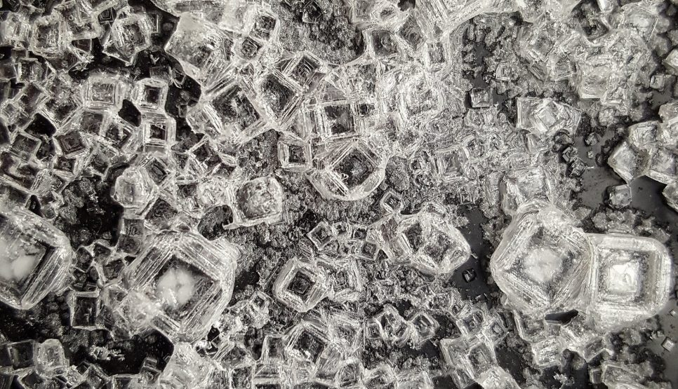 Salt Crystals. Photo by Ales Kladnik