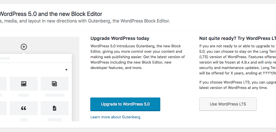 Gutenberg, Forks, and the need for an LTS version of